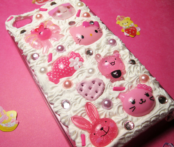 Kawaii pink and hello kitty deco iphone case by - Deco chambre hello kitty ...