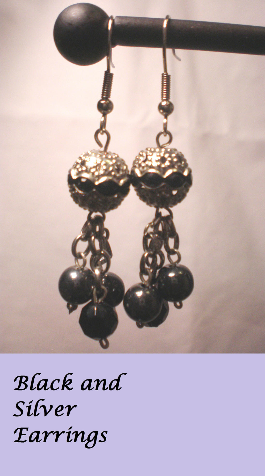 black and silver earrings by mariamhanna on deviantart