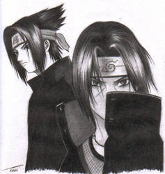 Uchiha Brothers by moonx123