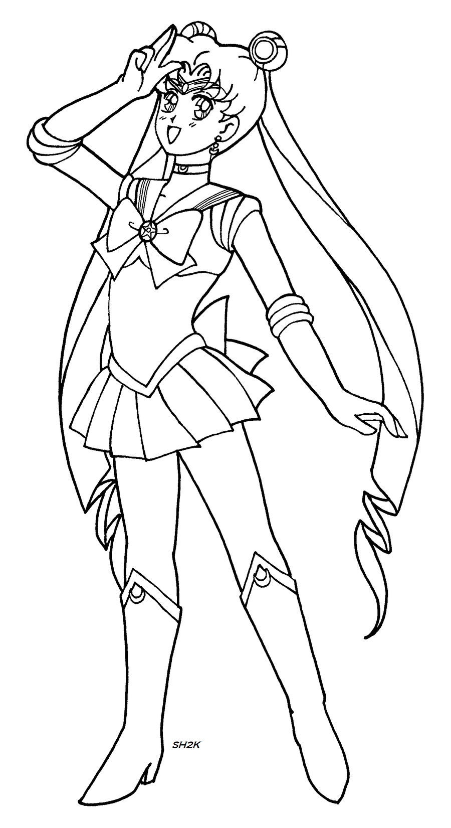 Sailor moon lineart msp by sailorharmony2000 on deviantart for Sailor moon group coloring pages