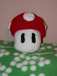 Crocheted Super Mushroom