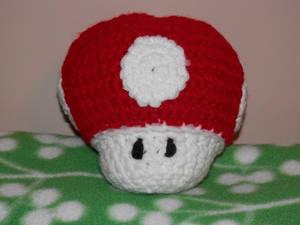 Crocheted Super Mushroom 2