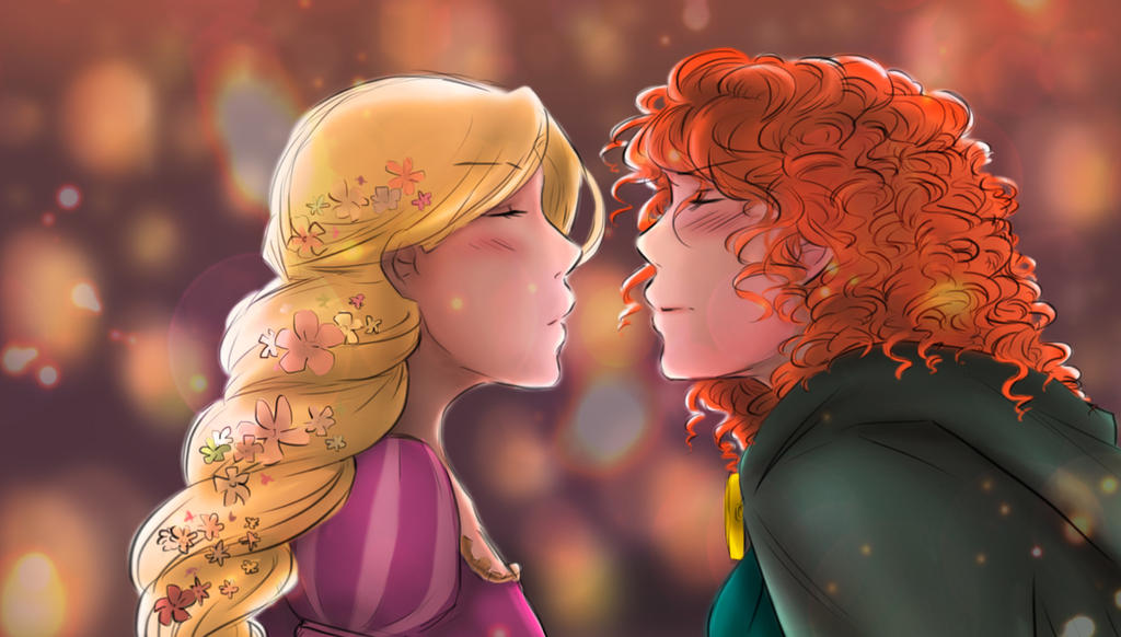 And at last I see the light - [Merida/Rapunzel] by KikiKinchester