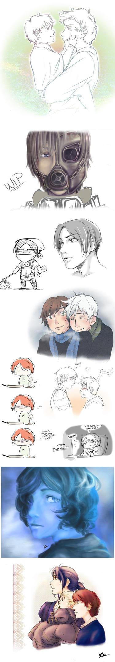 Random sketches. by KikiKinchester