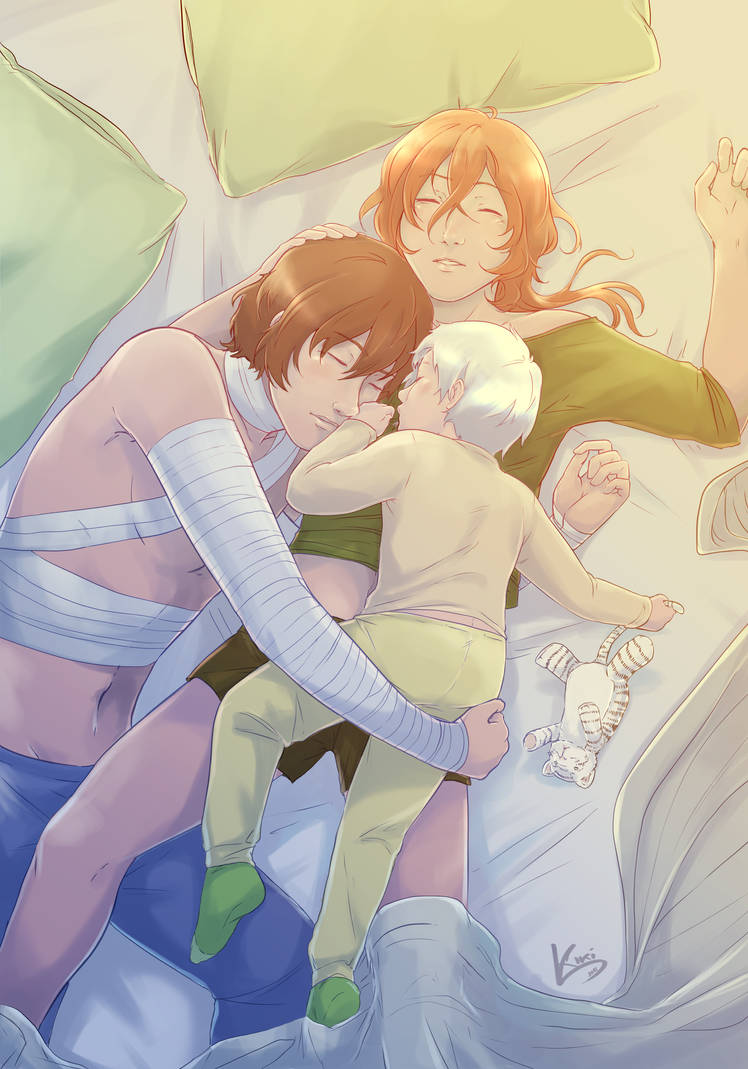 A crowded bed. [Bungou Stray Dogs fanart] by KikiKinchester