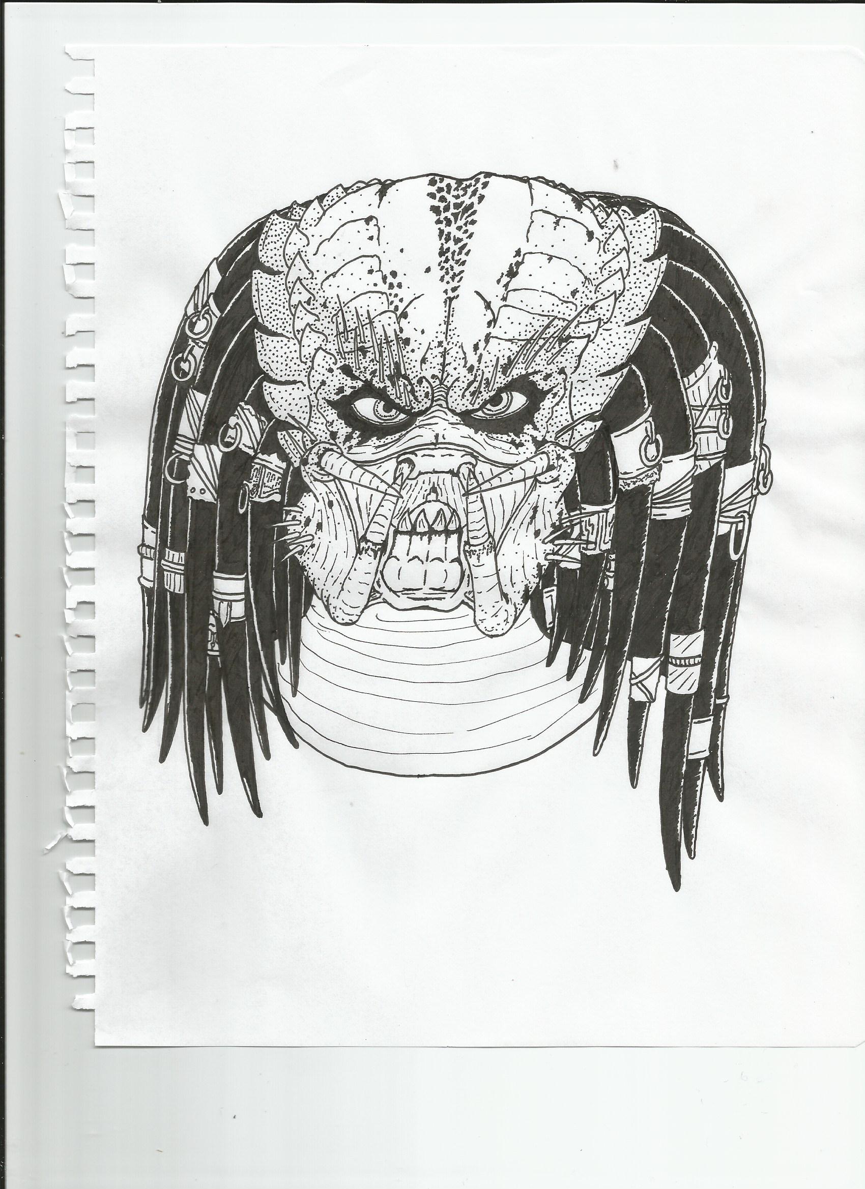 Predator Face by Krovovsky on DeviantArt
