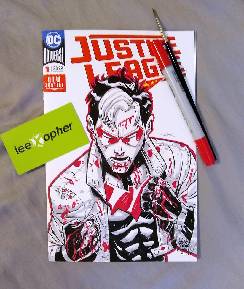 Red Hood Sketch Cover by Lee Xopher by leexopher
