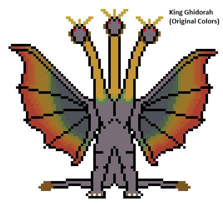 King Ghidorah (Original Colors) by Gojilion91