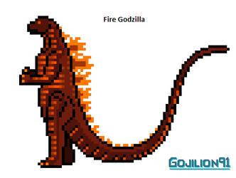 Fire Godzilla by Gojilion91