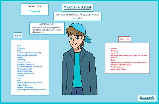 Meet the Artist (updated)