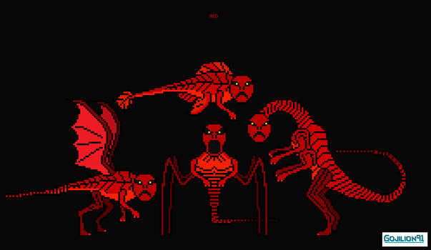 Red (black background)