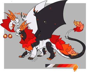 Kent| Flaming Lava Dragon RefSheet(2021)