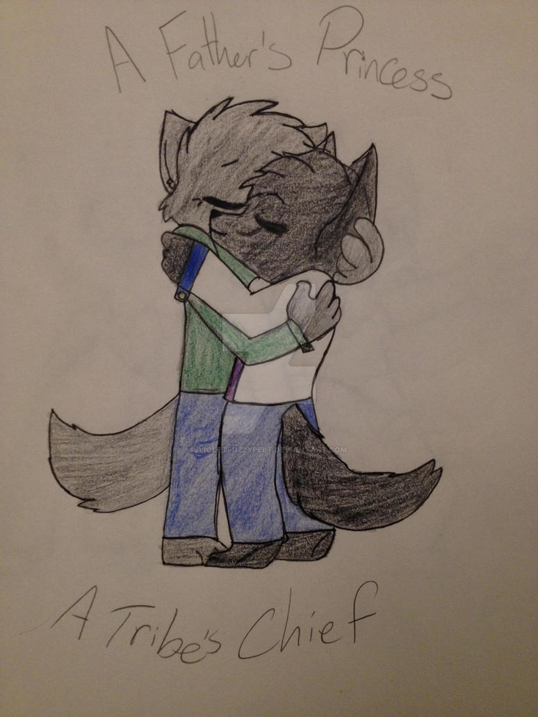 A Father and Daughter by VioletFuzzypelt