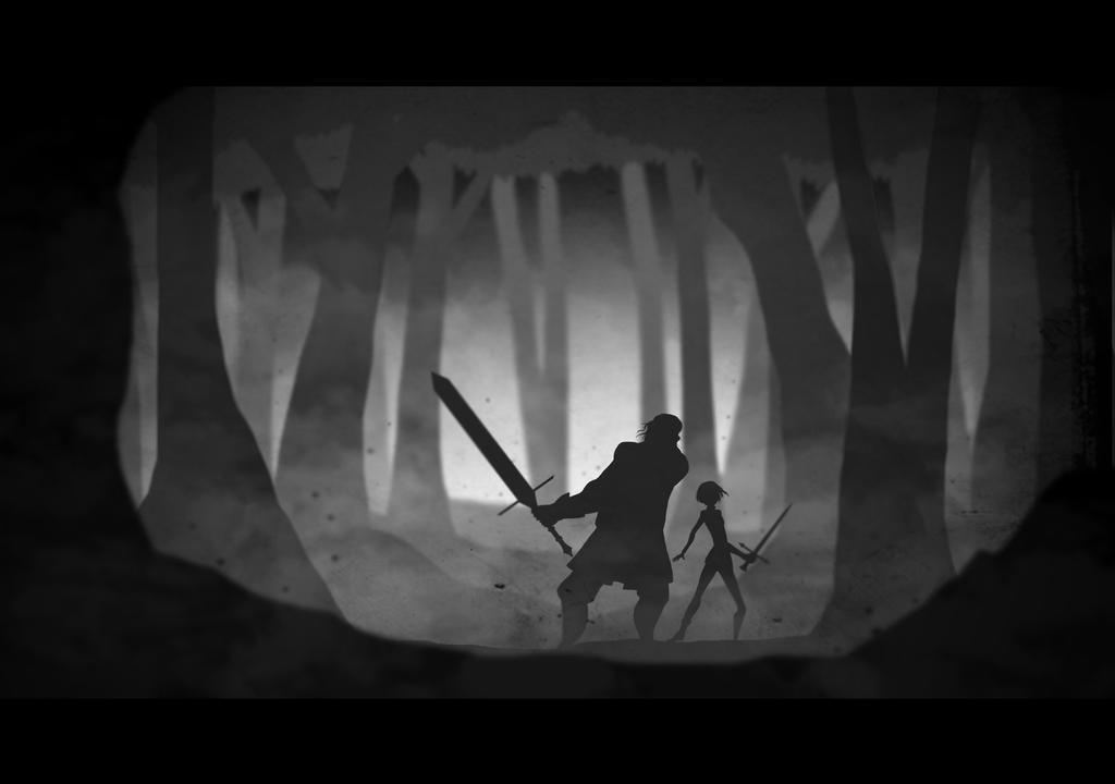 Sandor Clegane, Arya Stark by Beatrix-soleneg