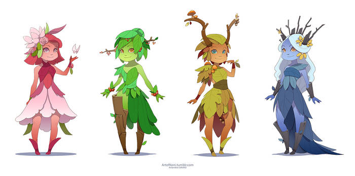 Dryad of the seasons