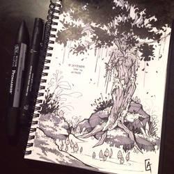 My #Inktober 2016_14_#Tree