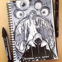 My #Inktober 2016_27_#Creepy by Koni-art