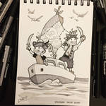 Inktober 2017 - Day25 - Ship