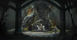 The sanctuary of the Arkh witch by Koni-art