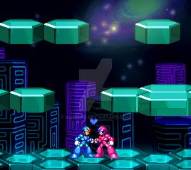 Megaman X x Megagirl X by AiliZero