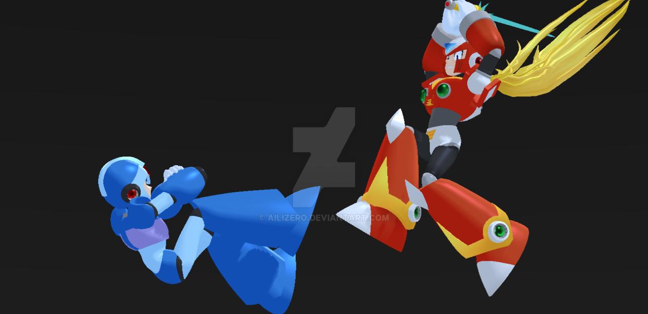 Megaman X vs Zero by AiliZero