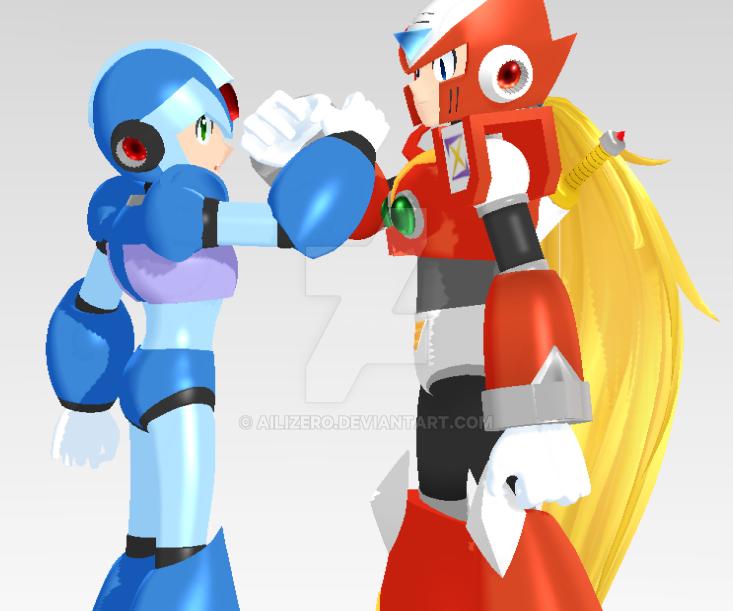 Megaman X and Zero by AiliZero