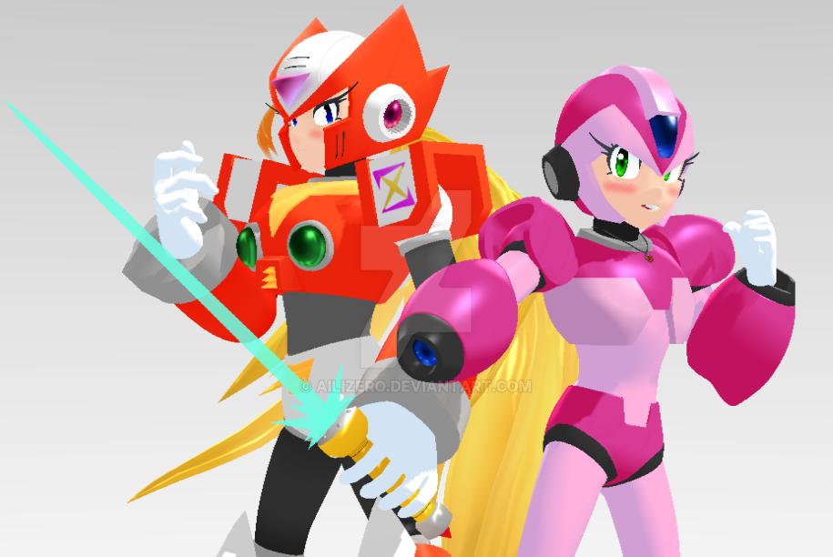 AiliZero and Megagirl X by AiliZero