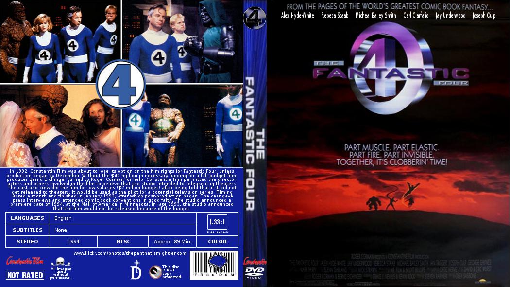 fantastic four 1994 unreleased by gattison13 on deviantart