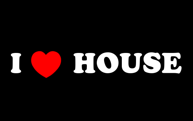 I love house simple design by killerbeat on deviantart for House music 2009