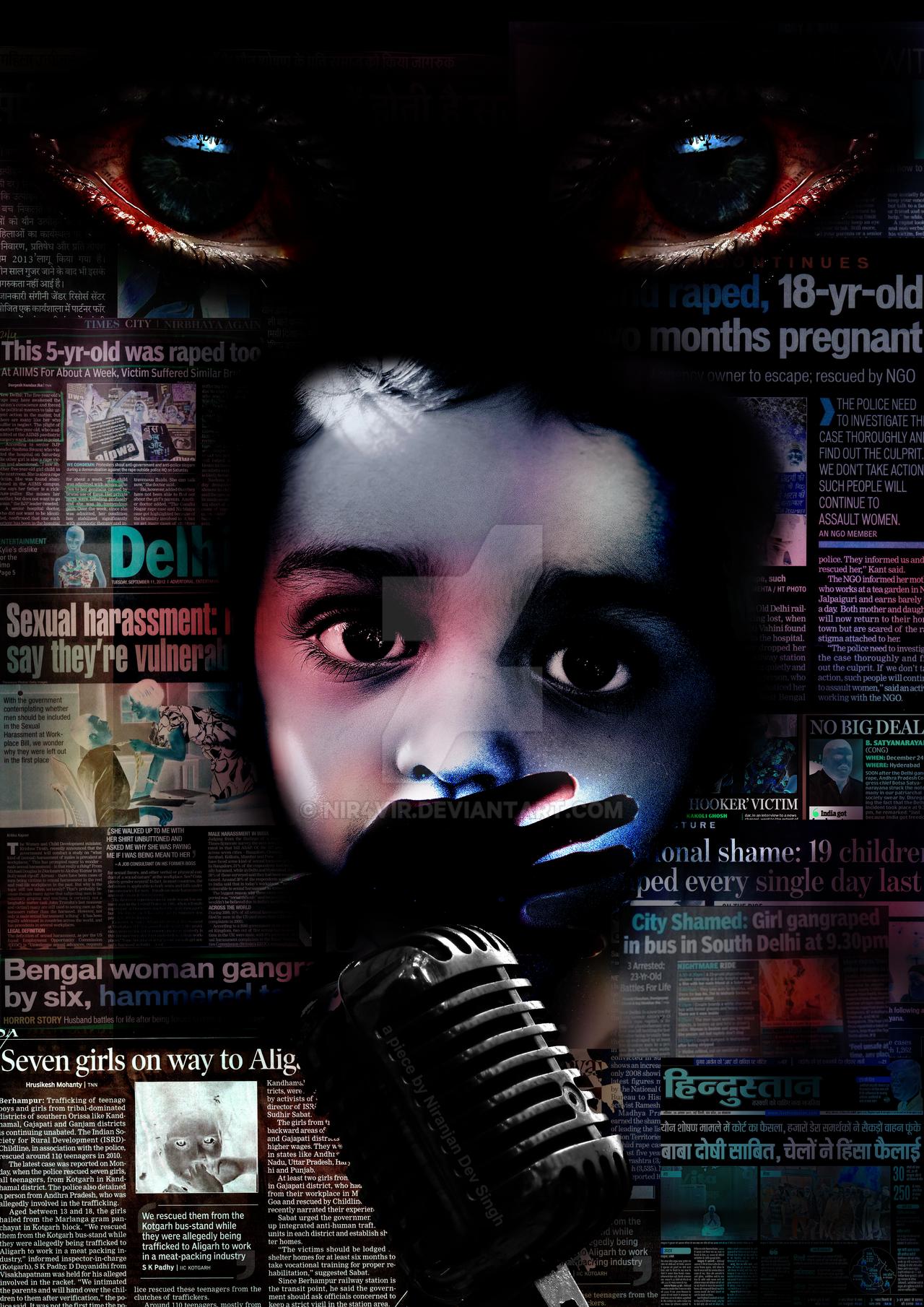 SPEECH | Poster on Rape by nir4vir on DeviantArt