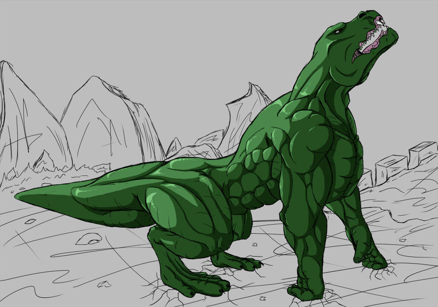 Hulk Dragon - WIP by Death-Tendency
