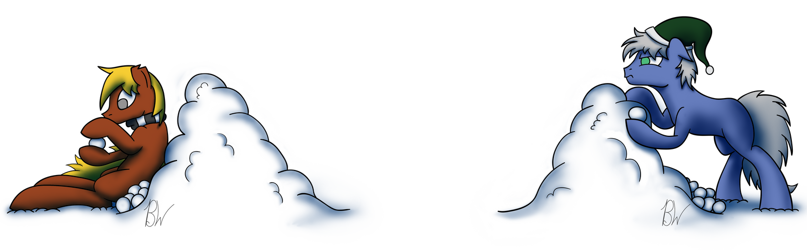Snowball Fight Banner by BelgianWaffleArt