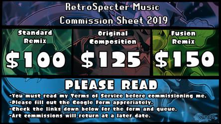 RetroSpecter Music Commission Sheet 2019 by Retro-Specter