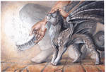 feeding kitty dragon