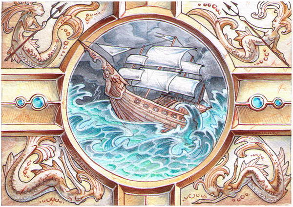 ACEO - Ship to Shore by drachenmagier