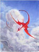 red dragon by drachenmagier
