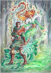 Commission - Strider and Goddess