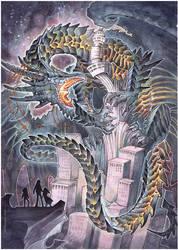 commission - black dragon