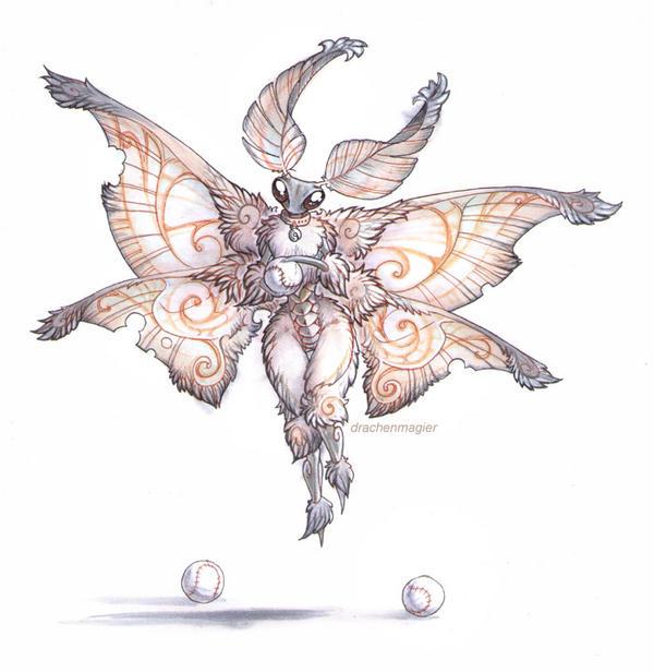 poodle moth by drachenmagier