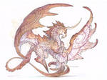 Commission - dragon unicorn