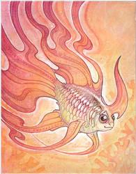 unicorn goldfish by drachenmagier