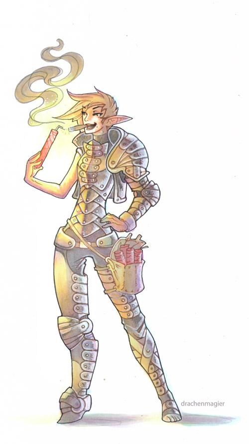 wildfire elf by drachenmagier
