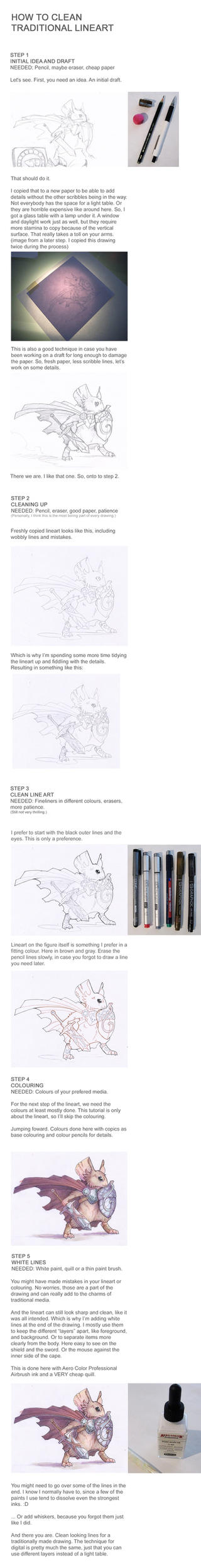 Traditional Media Lineart Tutorial by drachenmagier