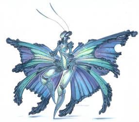 Blue Morpho by drachenmagier