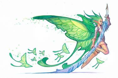 moth fairy by drachenmagier