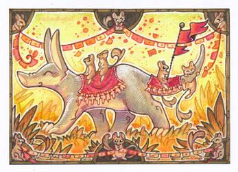 ACEO - aardvark parade