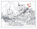 Inktober day 25: Ship