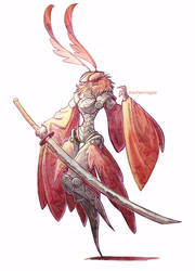 samurai moth by drachenmagier