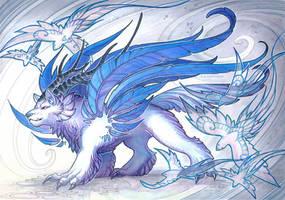 wolf goddess by drachenmagier