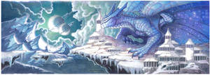 temple dragon (wide version) by drachenmagier